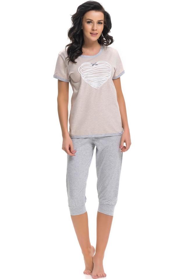 Dámské pyžamo Dn-nightwear PM.9221 - XL - sweet grey