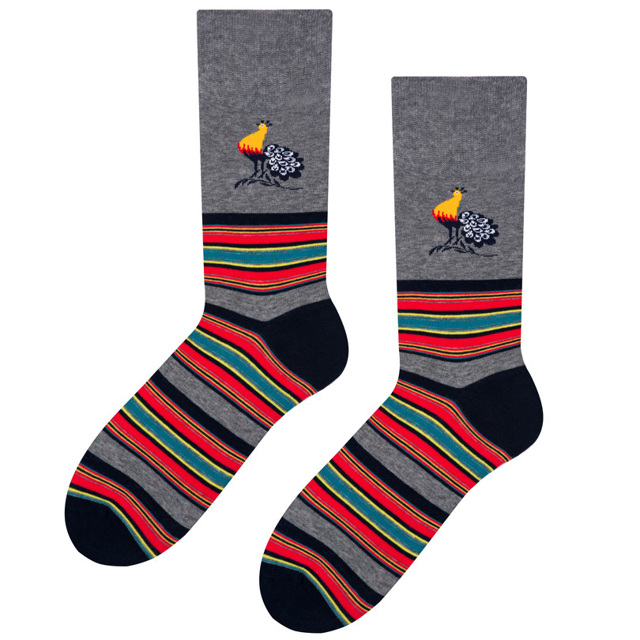 Pánské ponožky folk 056 - Zelený - 39-42