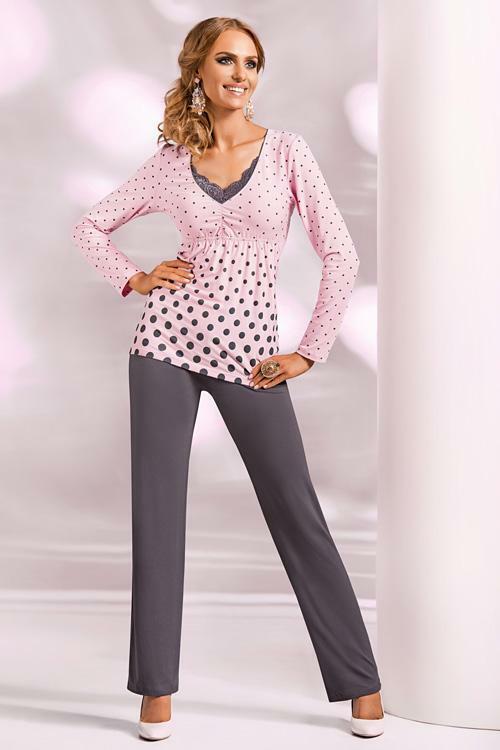 Dámské pyžamo Donna Sonia PJ pink - M - růžová