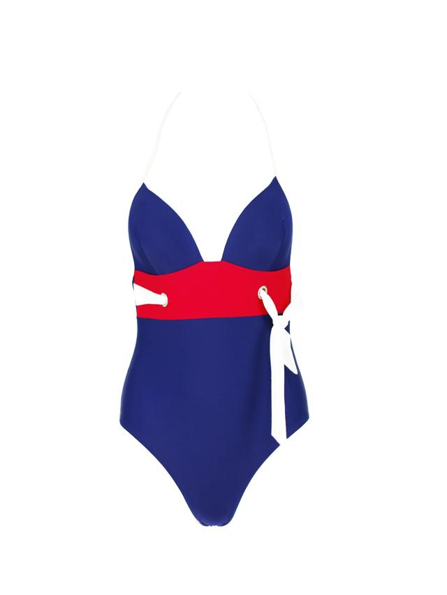 Jednodílné plavky P047 - Volín - M - modrá