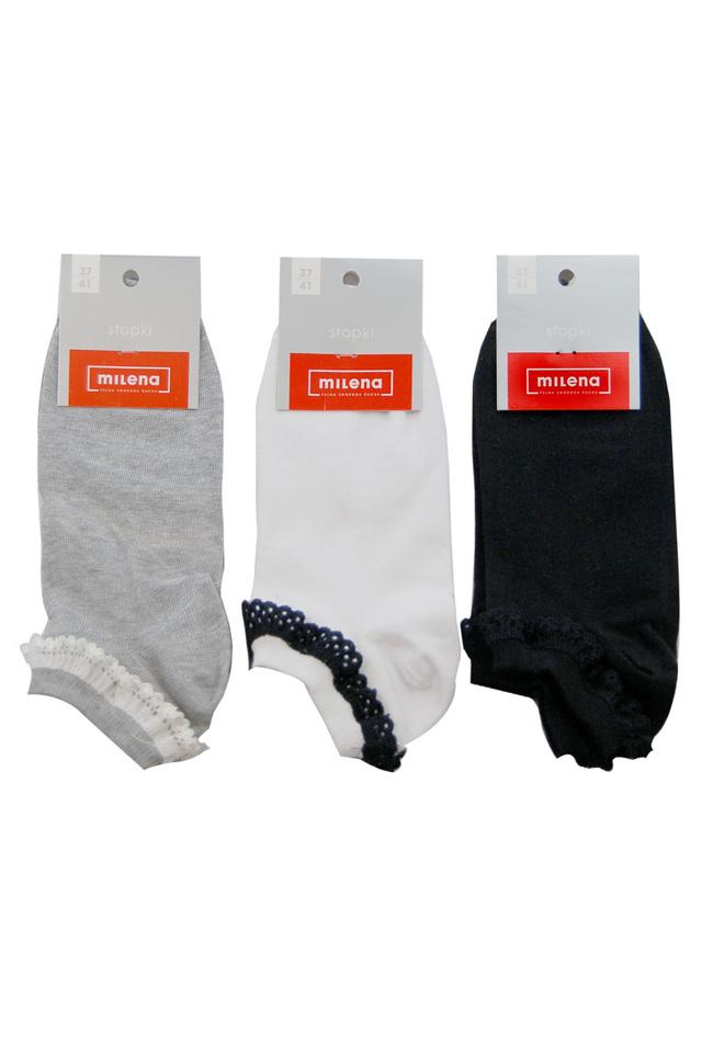 Dámské kotníkové ponožky s krajkou - 37-41