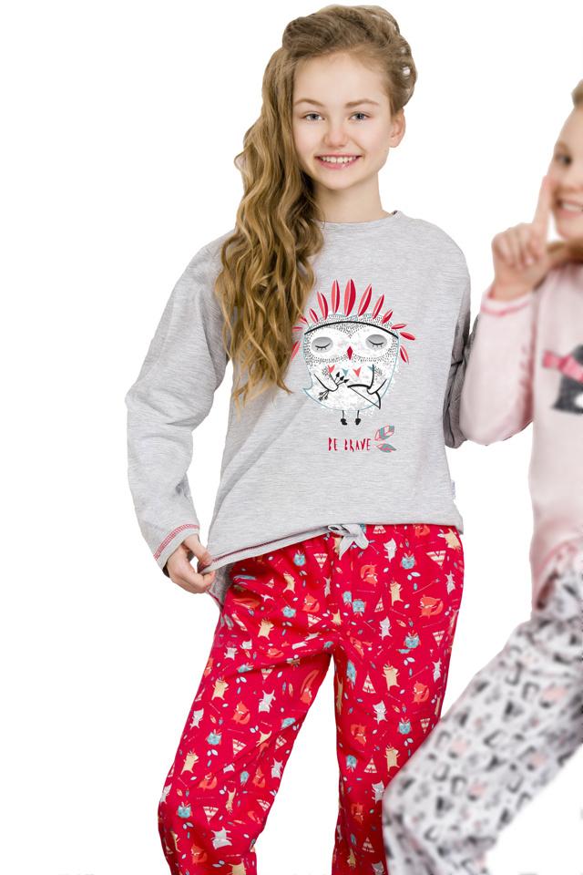 Dívčí  pyžamo Oda šedé