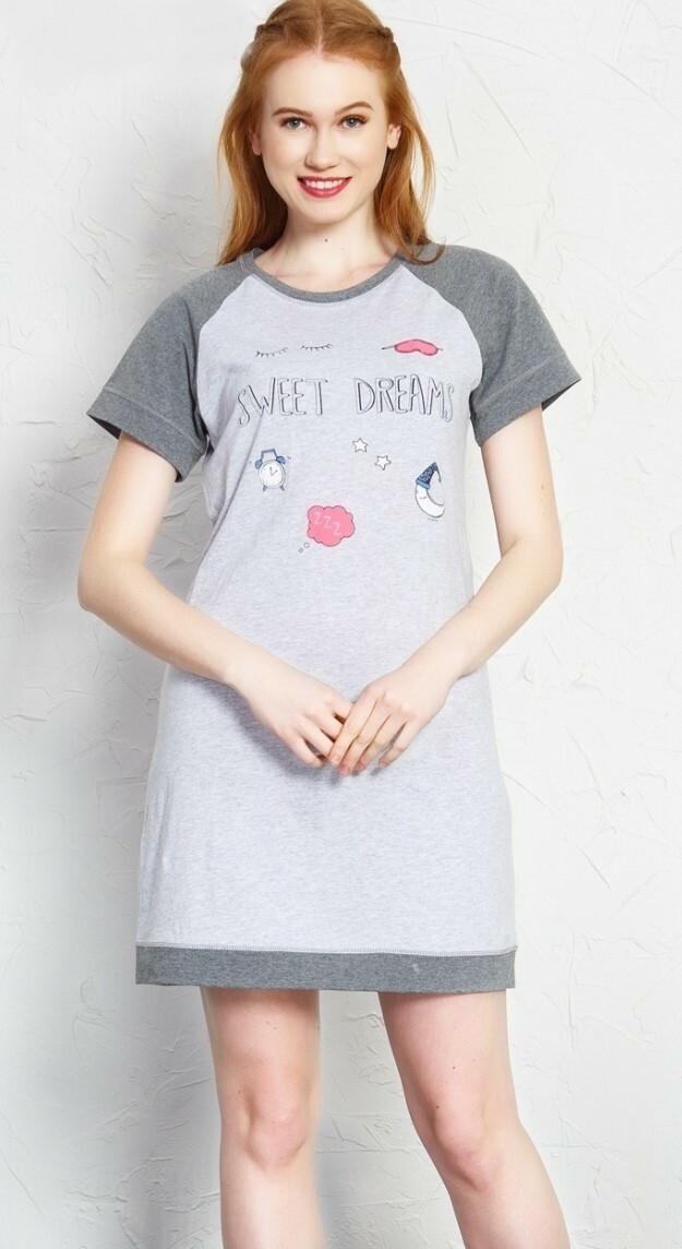 Dámská noční košile s krátkým rukávem Sweet dreams