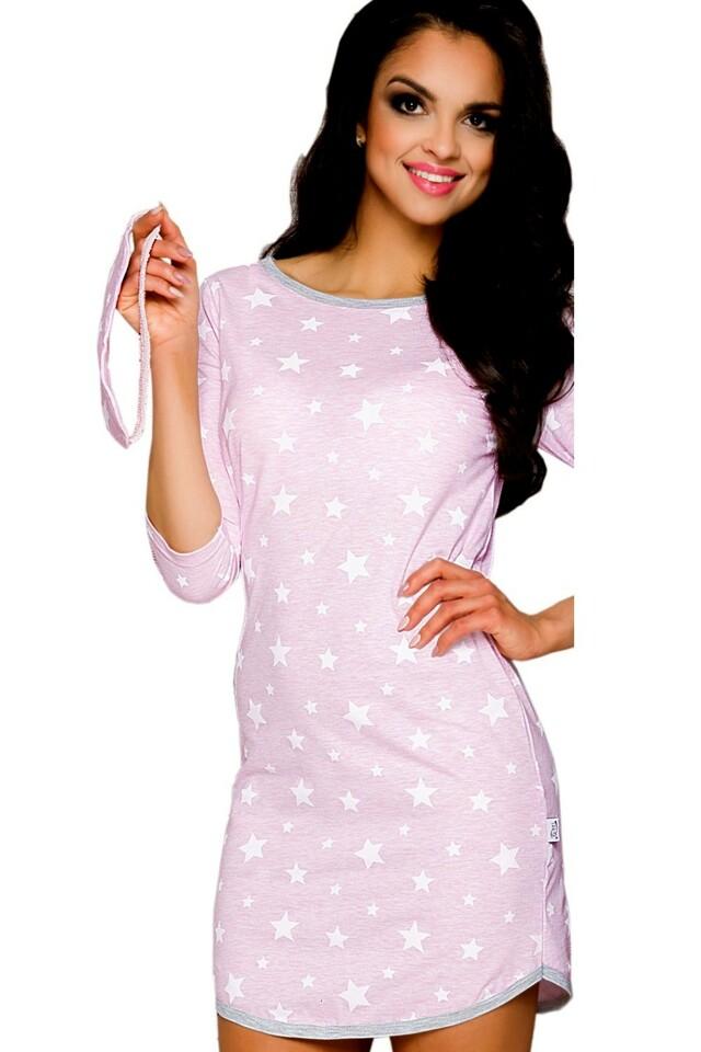 Noční košile Molly 1189 pink - M - růžová