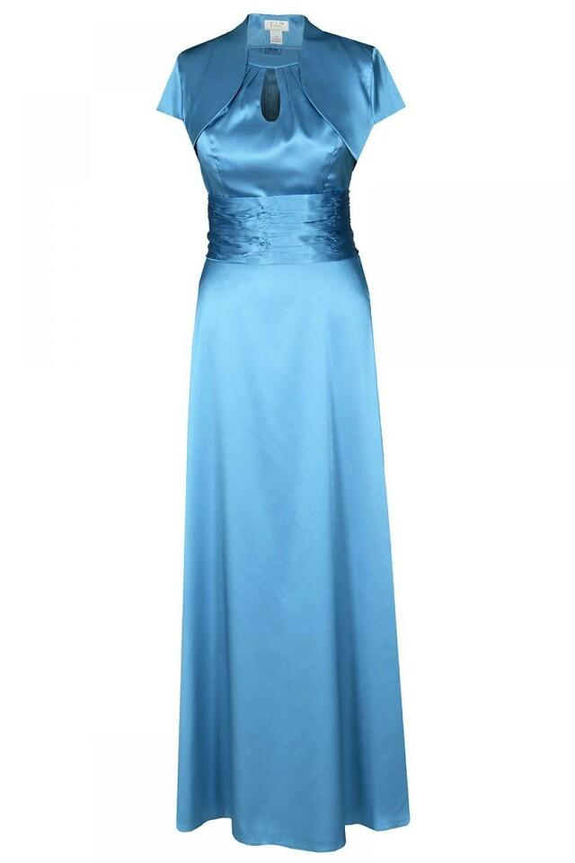 Večerní šaty 3 dilné FSU168 - Fokus Fashion - 36 - světle modrá