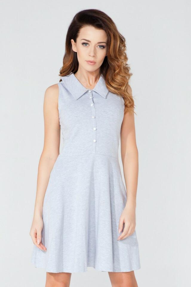 Tessita Denní šaty model T115/2 - L - šedá