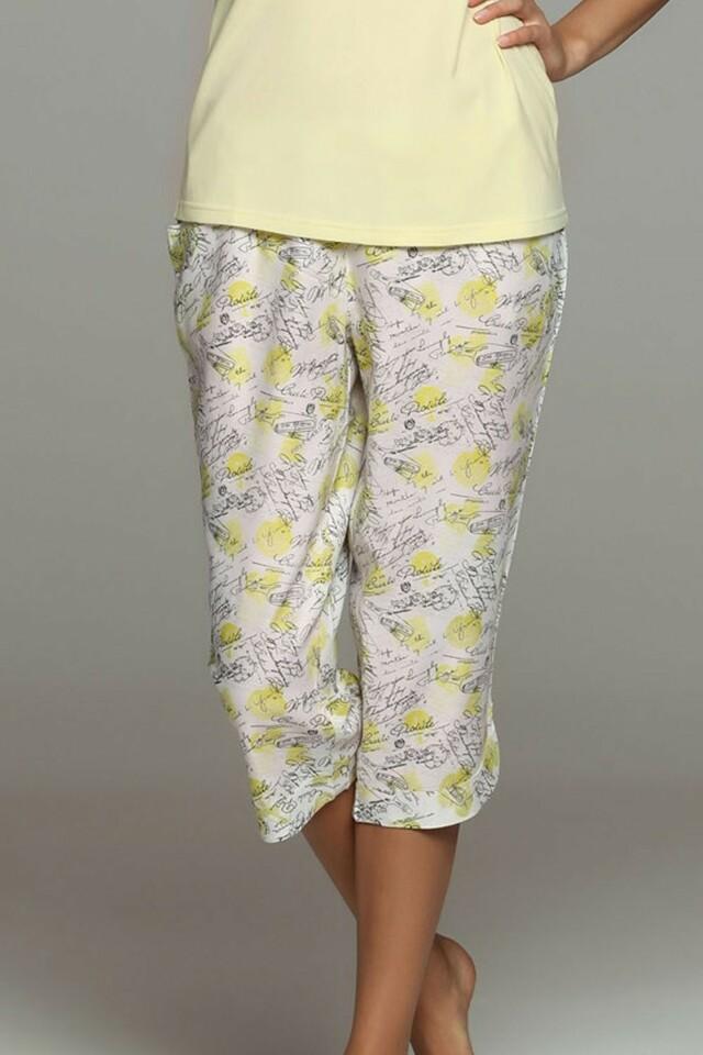 Dámské pyžamové kalhoty 32060 - S - žlutá