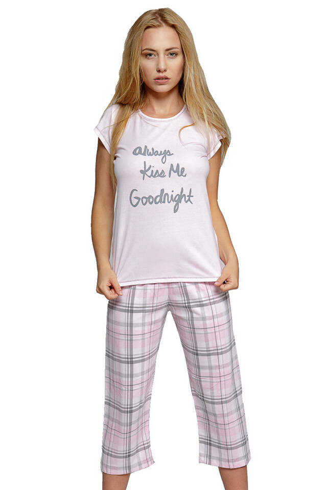 Dámské bavlněné pyžamo Kiss Me - L
