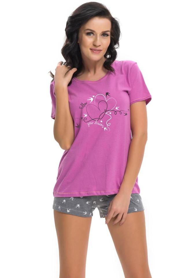 Dámské pyžamo Dn-nightwear PM.9216 - L - fuchsiová