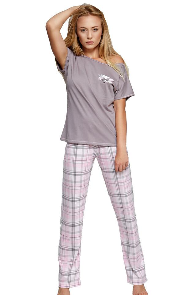 Dámské bavlněné pyžamo Sweet dreams dlouhé - L