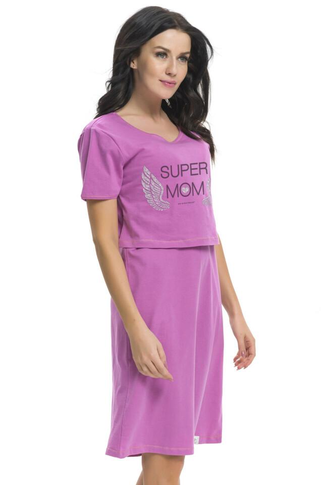 Těhotenská a kojící košilka Shirley fuchsiová - L
