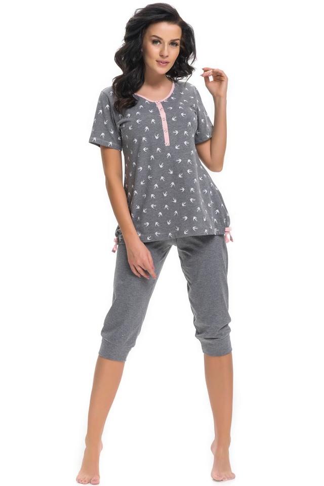Kojící/těhotenské pyžamo Dn-nightwear PM.9203 - M - šedá