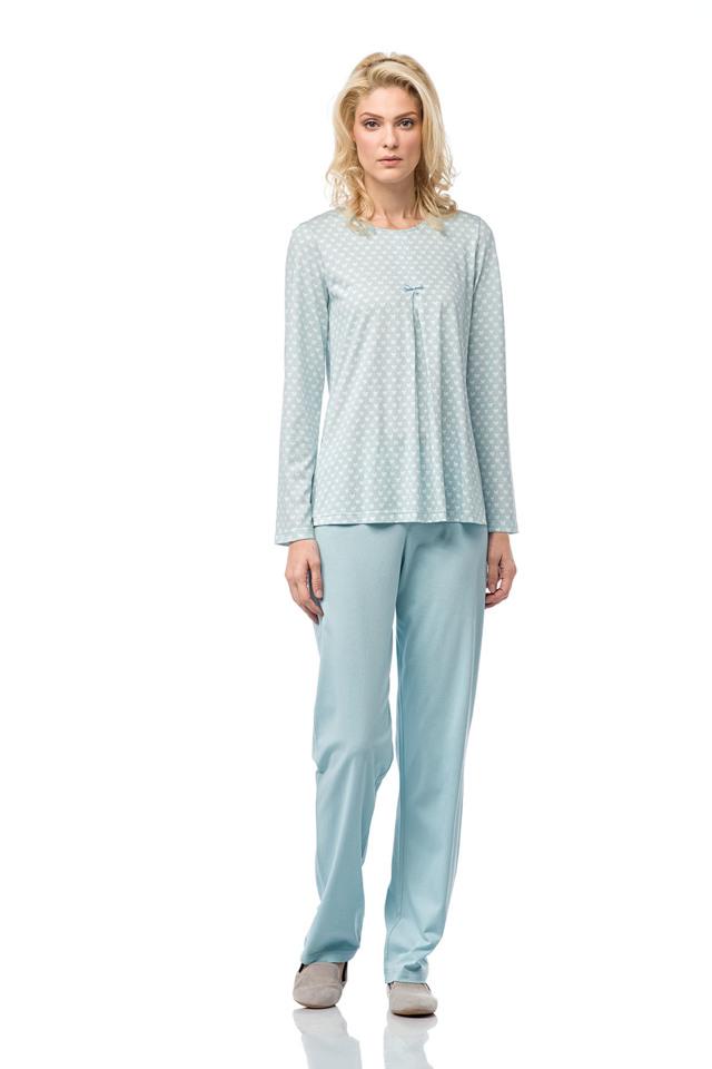 Dámské pyžamo 00-10-7164 - Vamp - L - sv.modrá