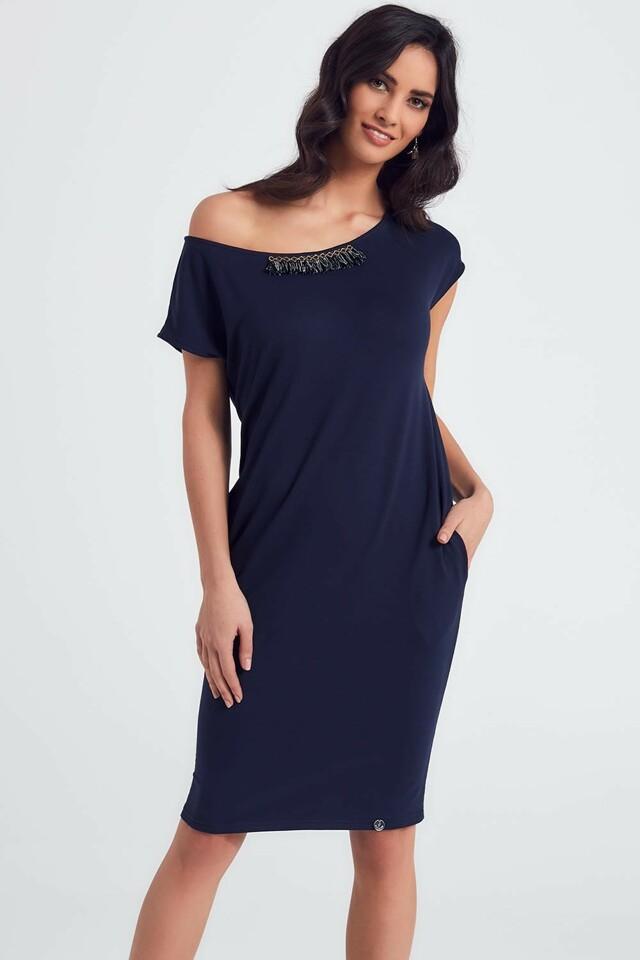 5c29ffc77516 Dámské šaty Ennywear 250026 - 40 - tmavě modrá