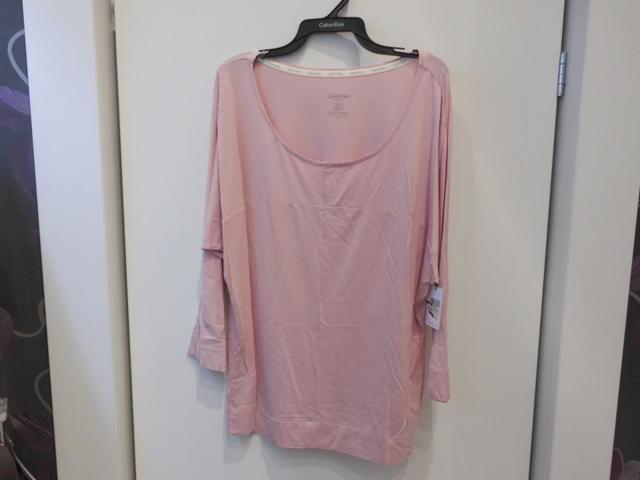 Dámské tričko 3/4 rukáv QS5834E - Calvin Klein - M - starorůžová