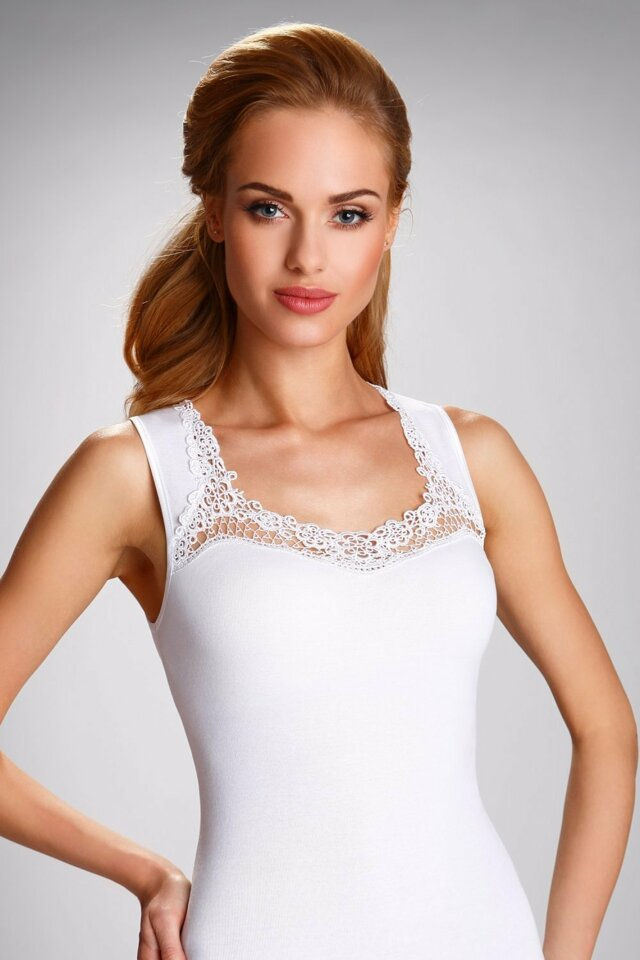 Dámská košilka Porta white - M - bílá
