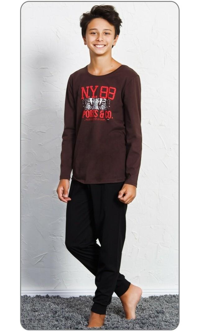 Dětské pyžamo dlouhé Patrik - petrolejová 15 - 16