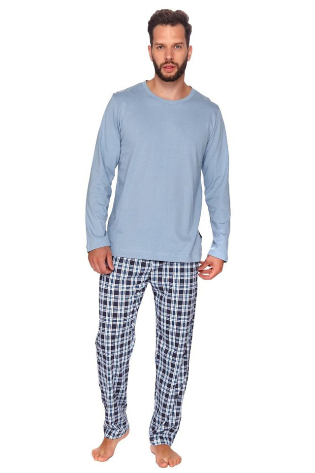 Pánské pyžamo Mark světle modré - XXL