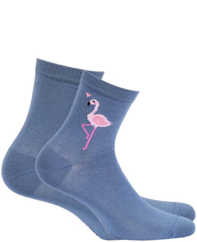Dámské vzorované ponožky PERFECT WOMAN - hnědé uhlí - 39-41