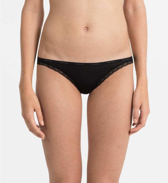 Tanga D3445E-001 černá - Calvin Klein