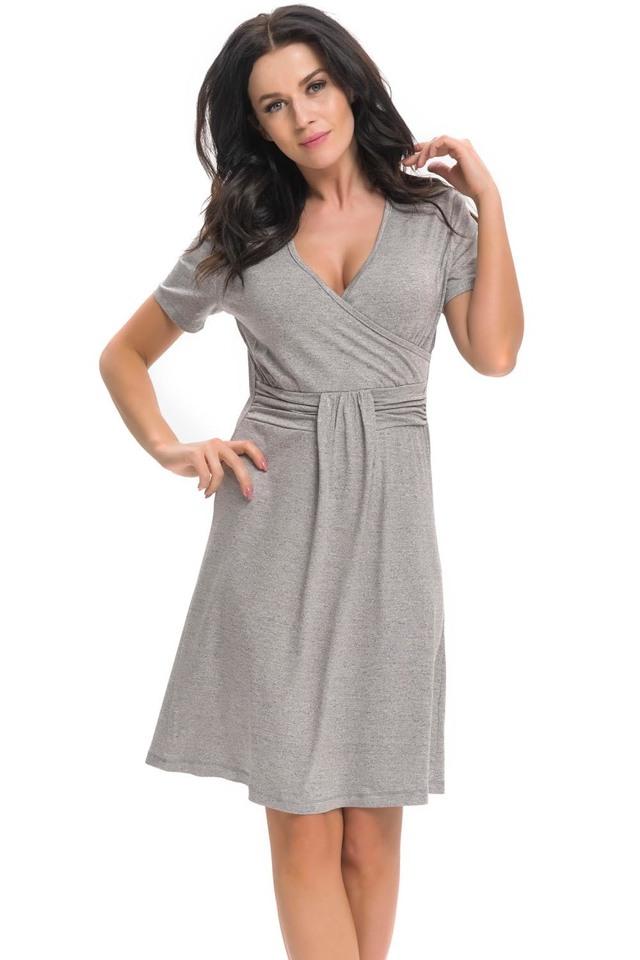Těhotenská/kojící noční košile Dn-nightwear TCB.9116 - M - deep pink