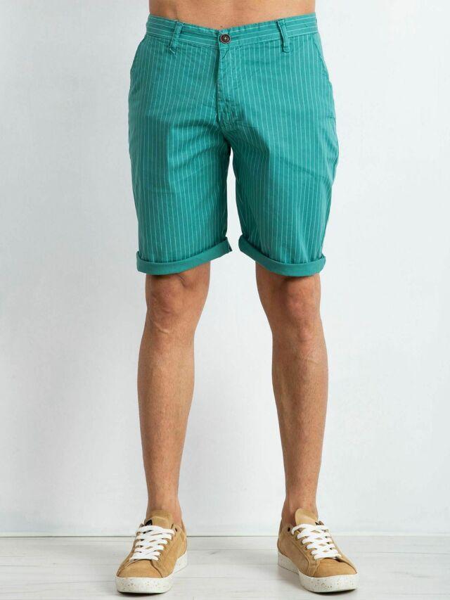 Pánské zelené pruhované kraťasy - 36
