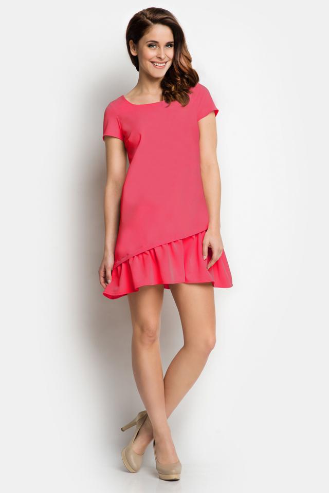 Denní šaty model 43205 Awama - L - růžová