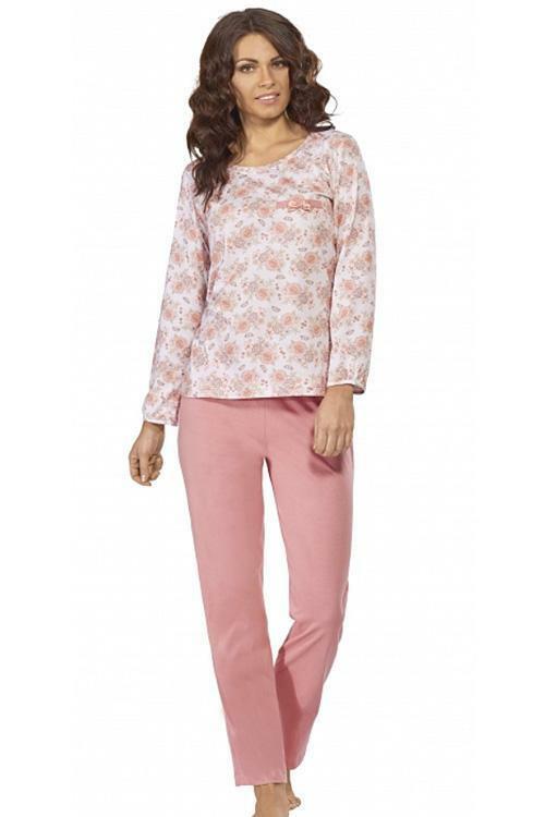Dámské pyžamo Luna 523-2 - M - růžová