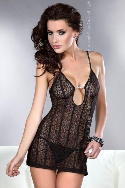 Erotická košilka Conchita - L/XL - černá