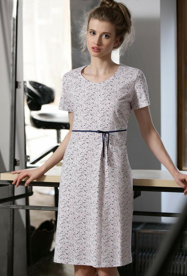 Noční košile Cana 759 S-XL - M - bílá-květy