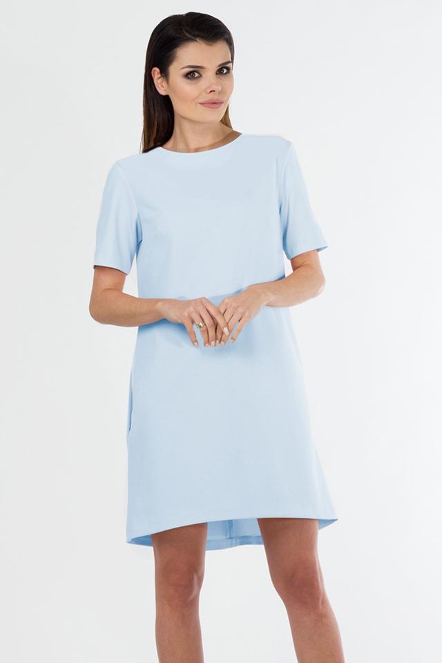 SLEVA - Dámské šaty 4247 - Bass - 50 - sv.modrá