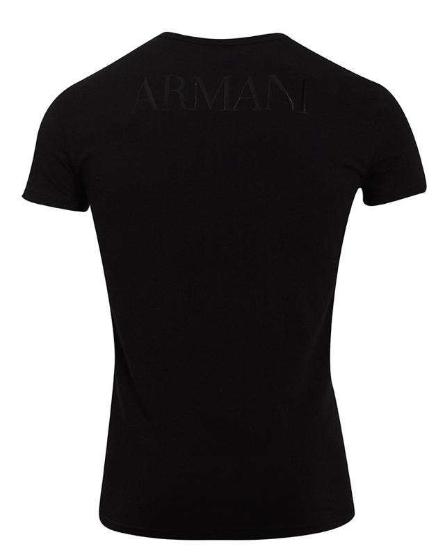 Pánské tričko 111035 CC716 00020 černá - Emporio Armani