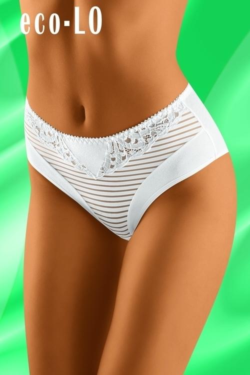 Dámské kalhotky eco-LO white - M - bílá