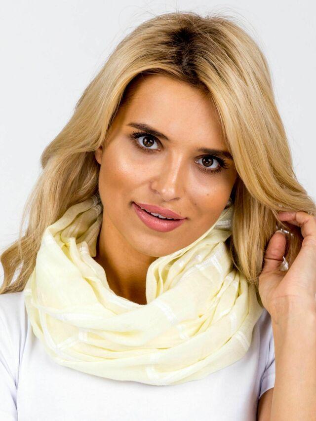 Žlutý kostkovaný šátek - ONE SIZE