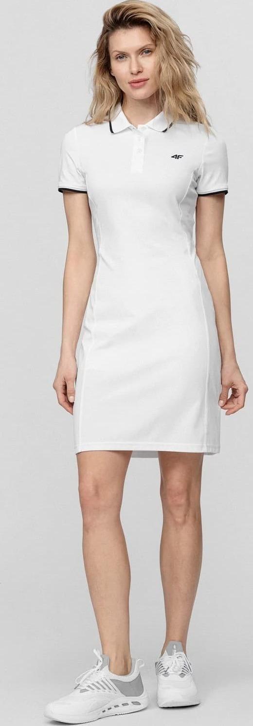 Dámské šaty 4F SUDD080 Bílé - L - Bílá