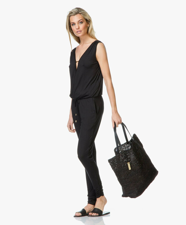 Plážová taška K9WC091073 - Calvin Klein - černá