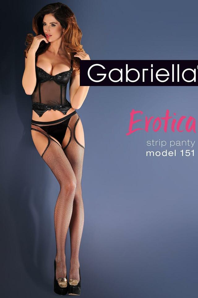 Punčochové kalhoty Gabriella Erotica Strip Panty 151 Code 636