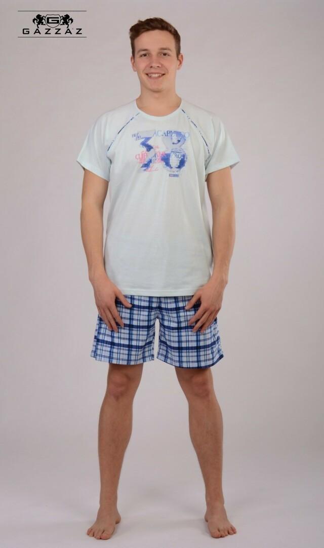 Pánské pyžamo šortky Acapulco - světle modrá M