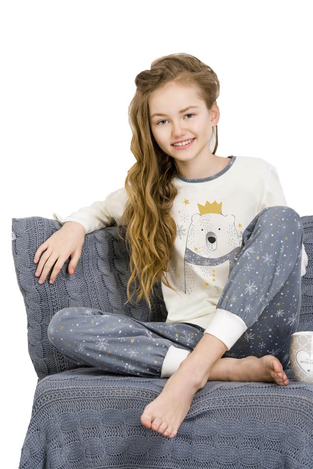 Dívčí  pyžamo Elza smetanové