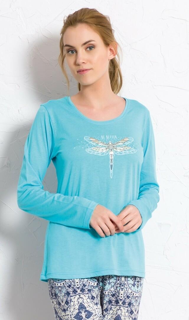 Dámské pyžamo dlouhé Vážka