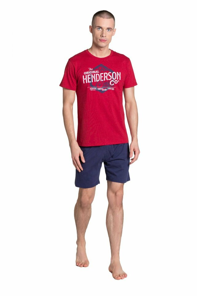 Pánské pyžamo 38869 - HENDERSON - XXL - červená