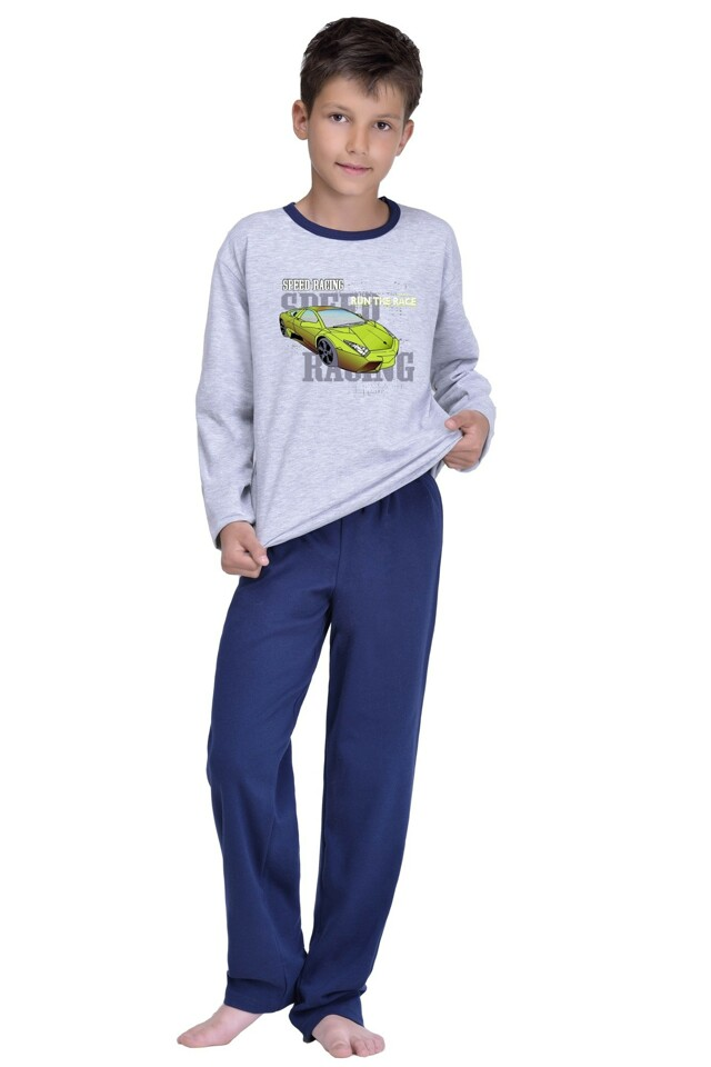 Chlapecké pyžamo Olda šedé - 146