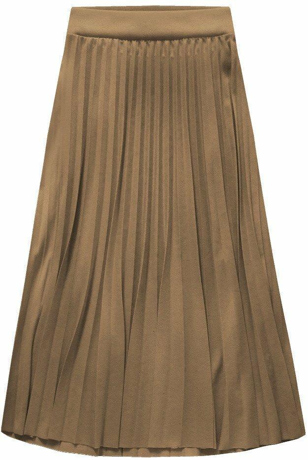 Kapučínová dámská plisovaná sukně (140ART)