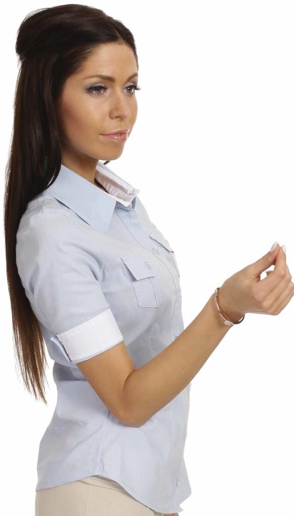 Dámská košile - MOE027 - S - modrá