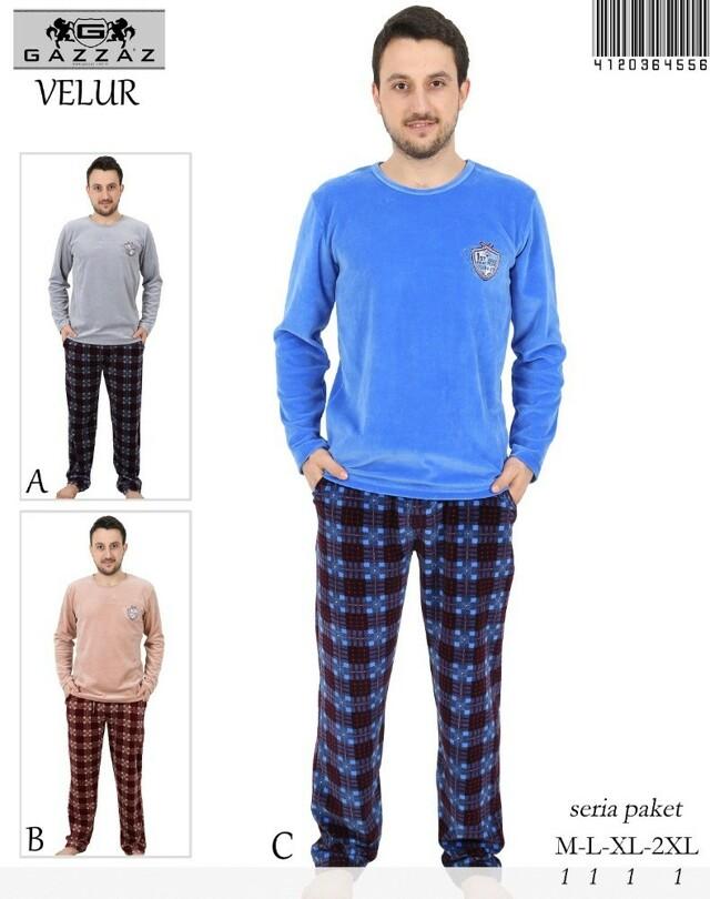 Pánské teplé pyžamo 4556- Gazzaz