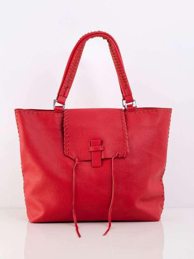 Červená velká taška přes rameno - jedna velikost
