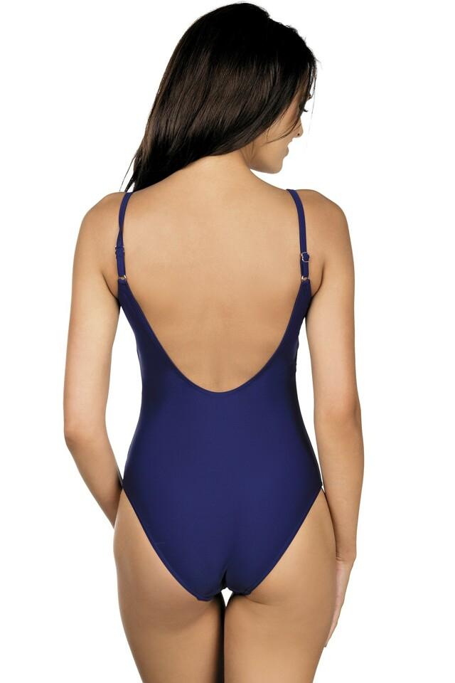 Dámské jednodílné plavky Stripes modré - XL