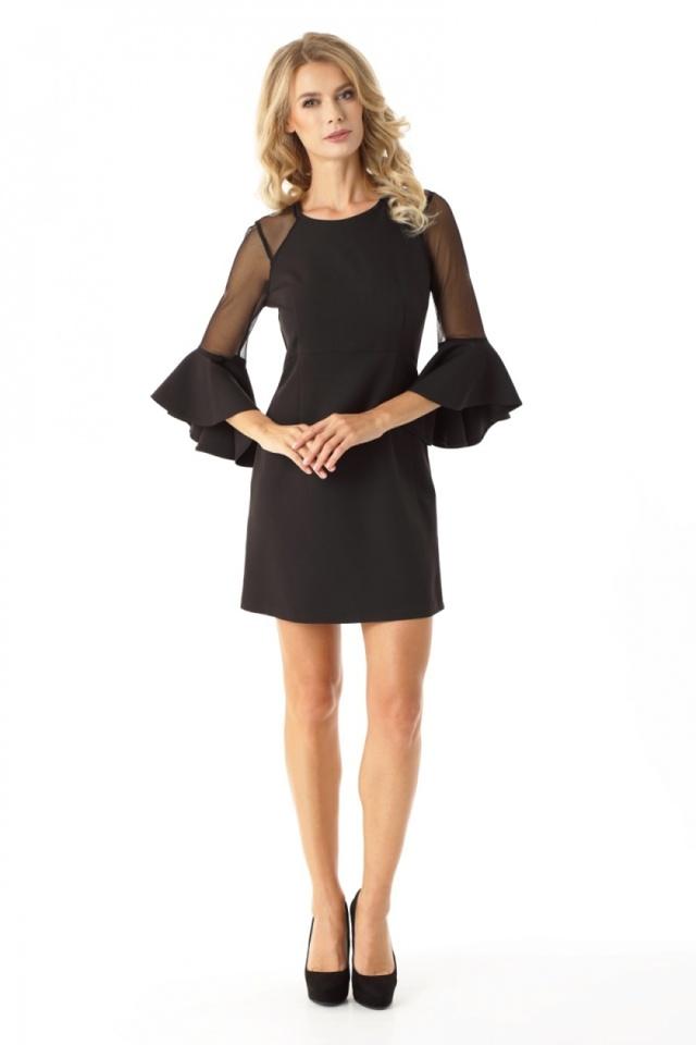 Dámské šaty ED021-4 - Ella Dora - 36 - černá