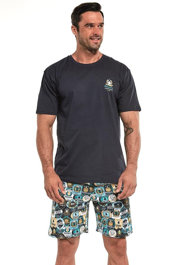 Pánské pyžamo Cornette 326/147 Craft Beer kr/r M-2XL - S - tmavě modrá