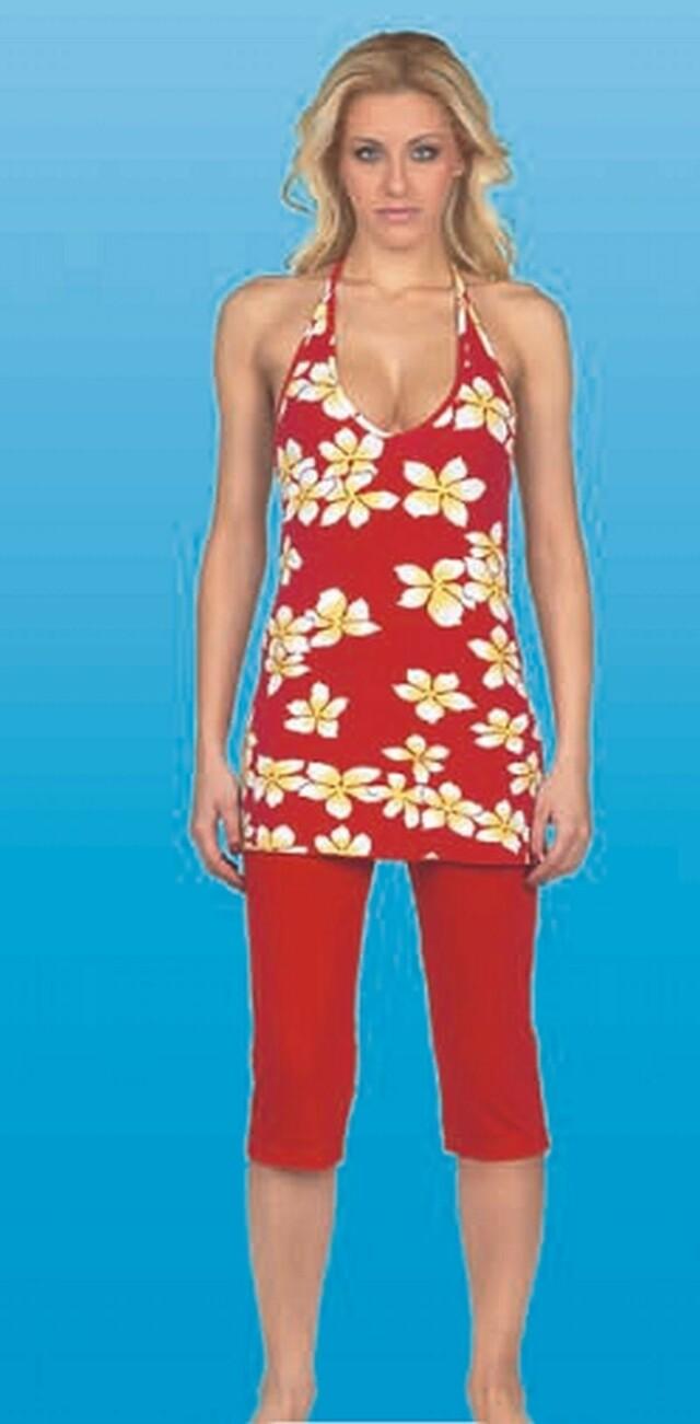 Pyžamo 5814-Vamp - S - červená
